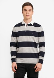 Tommy Hilfiger black BASIC BLOCK STP RUGBY L/S VF TO729AA0GH75SG_1