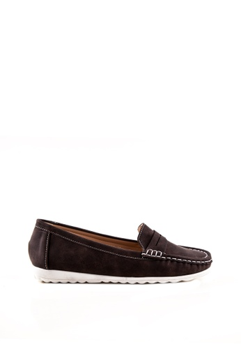 Otto brown Slip-On Penny Loafers OT407SH05TIWPH_1