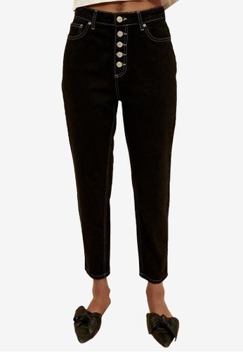 Trendyol 黑色 Organic Sustainable Mom 牛仔褲 5ECB0AA7C0C317GS_1