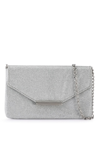ONLY silver Sparkle Cross Body Bag 38025ACA1C5541GS_1