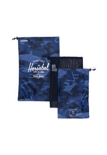 Herschel navy Herschel Unisex Laundry Bag Peacoat Camo 96B5FAC40AD34EGS_1