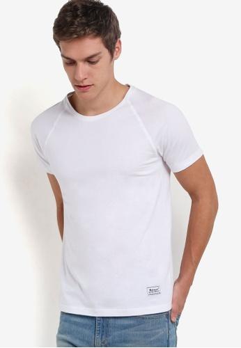 UniqTee white Eco Fabrics Raglan Short Sleeve Tee UN097AA43REQMY_1