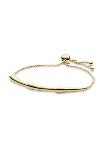 PANDORA gold Pandora Flower Stem Slider Bracelet EF48DAC72344FFGS_1