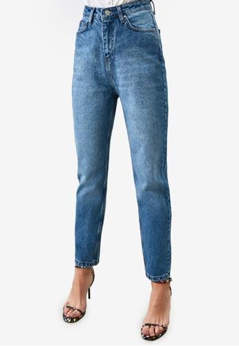Trendyol blue Mid Wash High Waist Mom Jeans AEACEAA1A2538FGS_1
