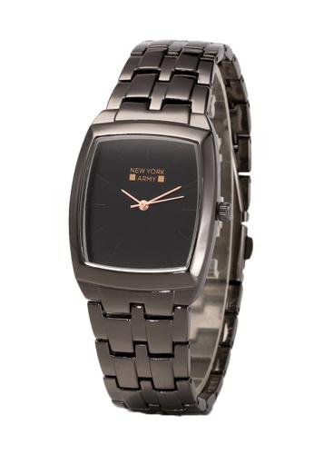 Greatvalueplus black Newyork Army Men's Square Case Hands Steel Watch - NYA189M GR688AC45SSWPH_1