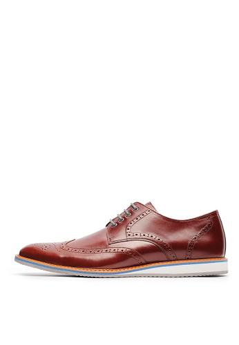 MIT。頭層高光油牛皮休閒鞋(雙鞋帶)-04721-酒紅, 鞋, esprit home 台灣休閒鞋