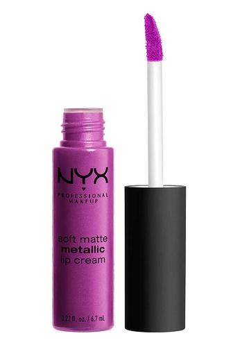 NYX Professional Makeup purple NYX Professional MakeupSoft Matte Metallic Lip Cream - SEOUL B8C94BEA24D3F5GS_1
