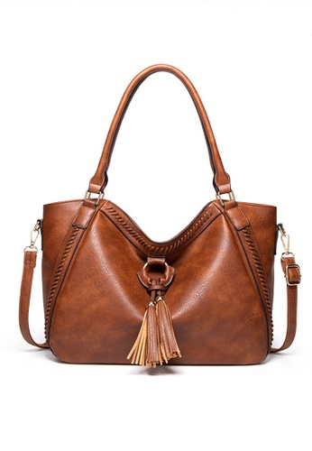 Halo brown Vintage Three Way Crossbody Bag 47969AC6284C40GS_1
