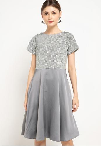 CHANIRA LA PAREZZA grey and silver Helena Dress 5C7A5AA3617F17GS_1