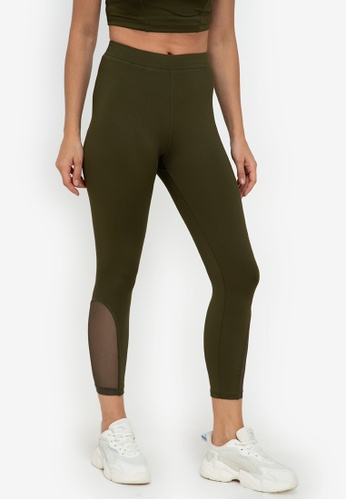 ZALORA ACTIVE green Z.Active Mesh Panel Tights C5EF2AA485A6D3GS_1