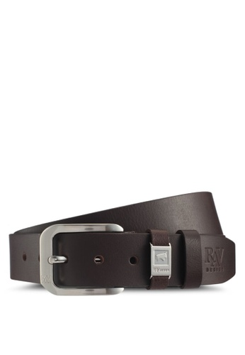 RAV Design brown 40MM Leather Belt 5AB3EAC93BC433GS_1