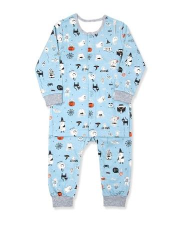 Organic mom blue Boys Autumn-Winte Halloween Party Pajamas 21043KAF064E35GS_1