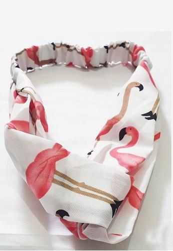 San Marco white and multi Twisted Headband Flamingo White 9ACCABECA5EFA5GS_1