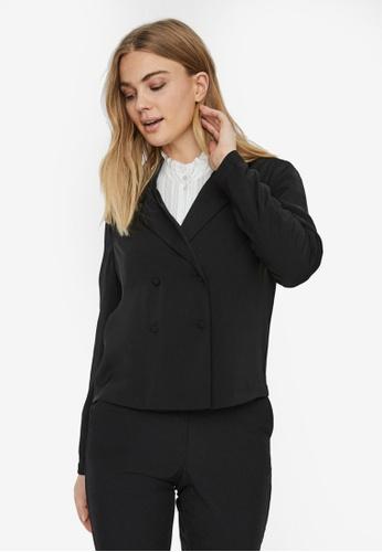 Vero Moda black Karina Long Sleeve Short Blazer 9FD52AA494F557GS_1