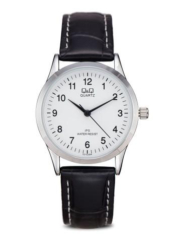 Q&esprit台北門市Q C213J301Y 仿皮數字手錶, 錶類, 其它錶帶