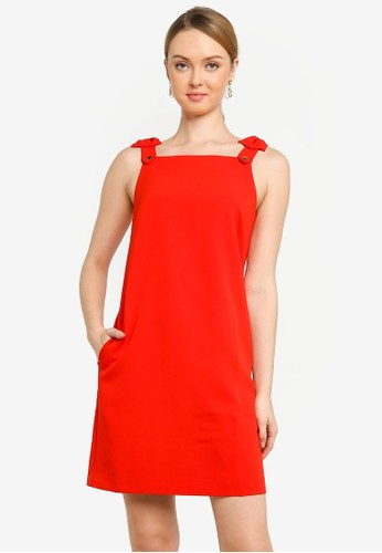 Saturday Club red Strappy A-line Dress 83245AA9C29406GS_1