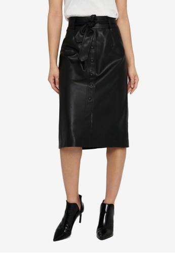 ONLY black Nanna Below Knee Skirt 39E9CAA9EA2C5FGS_1