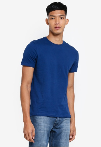 OVS blue Basic Round-Neck T-Shirt 746D3AA0DE296EGS_1