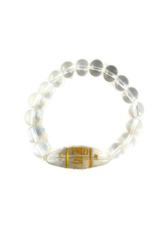 Feng Shui Clear Quartz Protection Mantra Bracelet
