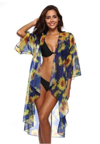 LYCKA blue LTH4084-European Style Beach Robe-Blue AE0D0US3D1B619GS_1