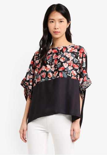 Mango black Combined Printed T-Shirt E3897AA1555013GS_1