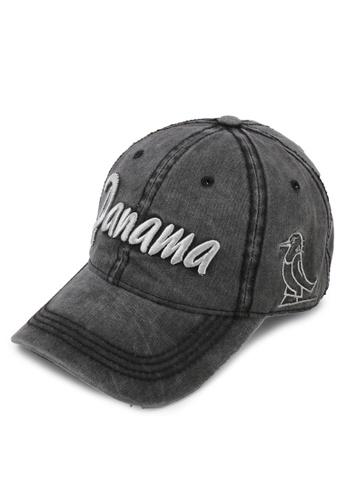 Fidelio black Panama Washed Casual Cap B1614ACBDEF92EGS_1
