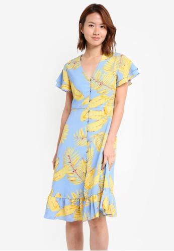 ZALORA blue Button Down Sun Dress 9AA5FAAEA2D8AAGS_1