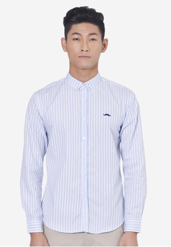 Private Stitch blue Private Stitch Shirts With Signature Moustache Embroidered PR777AA28JVZMY_1