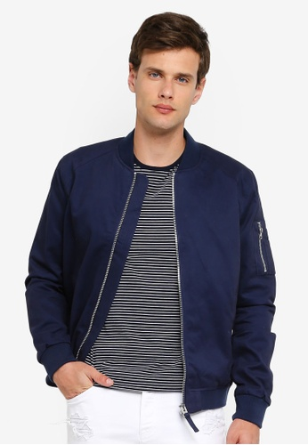 a81e07141 Navy Bomber Jacket
