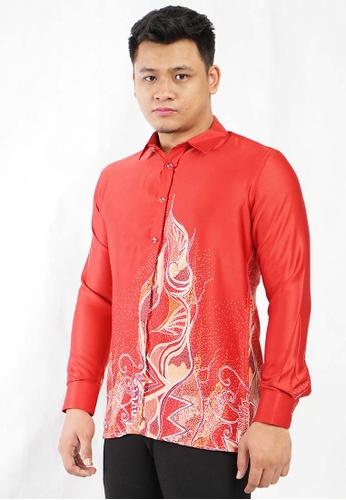 batik house my red LONG SLEEVE BATIK MALAYSIA BHBM02-051 ( RED ) 161CAAA6D49D73GS_1