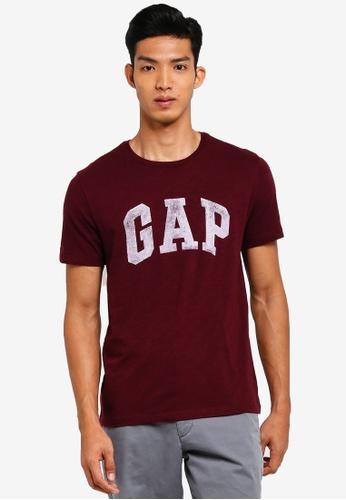GAP red Logo Distress T-Shirt 5D4D3AA685F0EEGS_1