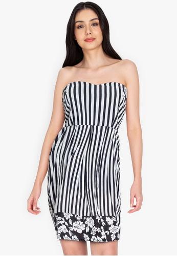 Chictees black Christine Stripe Dress FAD28AAE5CFFFEGS_1