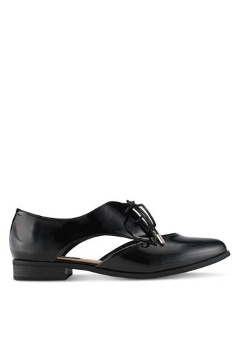 ZALORA black Pealised Patent Oxford Shoes BCC8CSH3818F7AGS_1