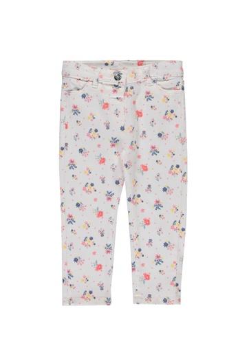 LC Waikiki white Baby Girl's Floral Gabardine Trousers 6630CKA5C4CE50GS_1