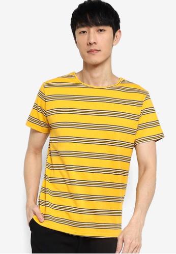 ZALORA BASICS multi Stripe Wide Neck T-Shirt 708EEAAD341D17GS_1