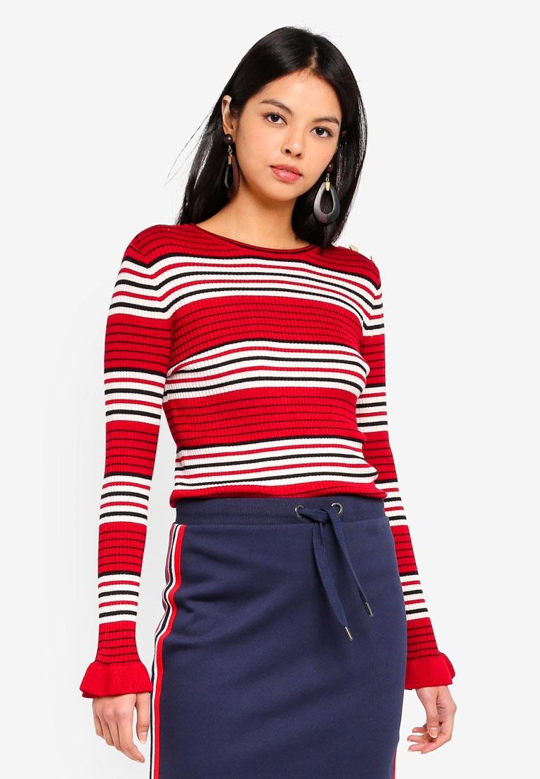 Sleeve Top Long Knit Multi ESPRIT Fw4HqYx