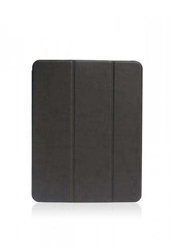 "Monocozzi black and grey Lucid Plus Folio - Shock Resistant Folio Case with Apple Pencil Slot for iPad Pro 11"" - Charcoal E6F06ACF8D55DBGS_1"