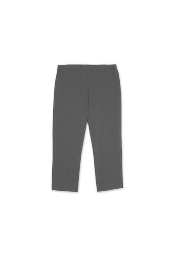 MS. READ grey Signature Ultra-Stretch Cropped Pants (GREY) 7DC6BAA5F6B9F2GS_1