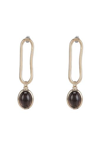 niko and ... grey Stone Drop Earrings 5D697AC1D994D3GS_1