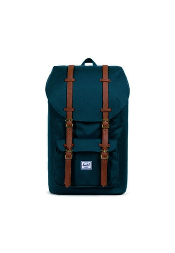 81b58934190 Herschel green Herschel Little America - Os Deep Teal Tan 25L  4E662ACCE832C5GS 1