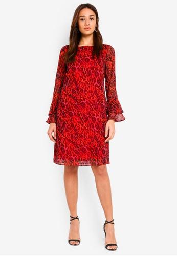 Shop Wallis Red Animal Print Shift Dress Online on ZALORA Philippines 967c92e76