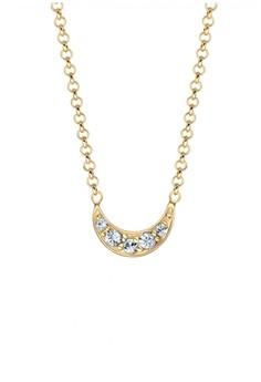 harga Elli Germany 925 Sterling Silver Kalung Lapis Emas 24K Swarovski Crystals Putih Zalora.co.id