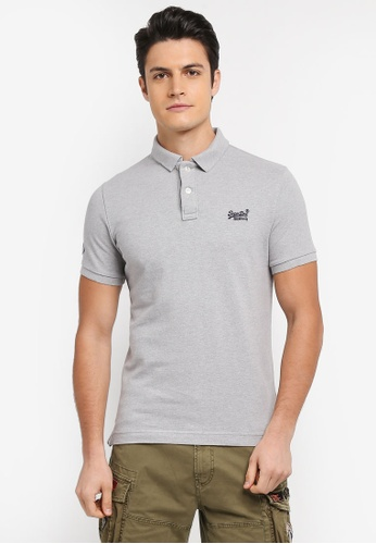 Superdry 灰色 CLASSIC PIQUE S/S POLO F230CAAC8308FDGS_1