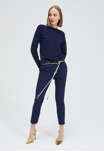 Sisley blue Regular Fit Trousers 92E26AA701E552GS_1