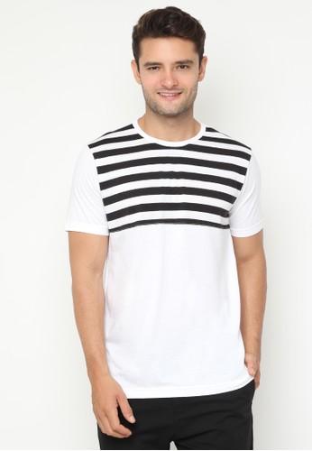 36e432b5f4276f JOULDAS white Jouldas White Strip T-Shirt 41668AA71F1ACBGS 1