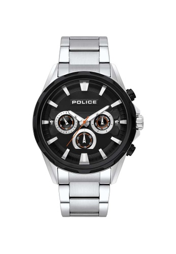 Police black and silver Police Winsted 47mm - Silver-Tone Case & Bracelet (PL15369JBCTB/02M) F174CAC502910BGS_1