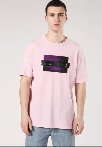 Diesel pink T-Just-Sn Regular Fit T-Shirt 47657AA36BBE7FGS_1
