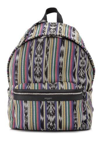 SAINT LAURENT multi Pre-Owned Saint Laurent City Backpack 5901FAC1141512GS_1