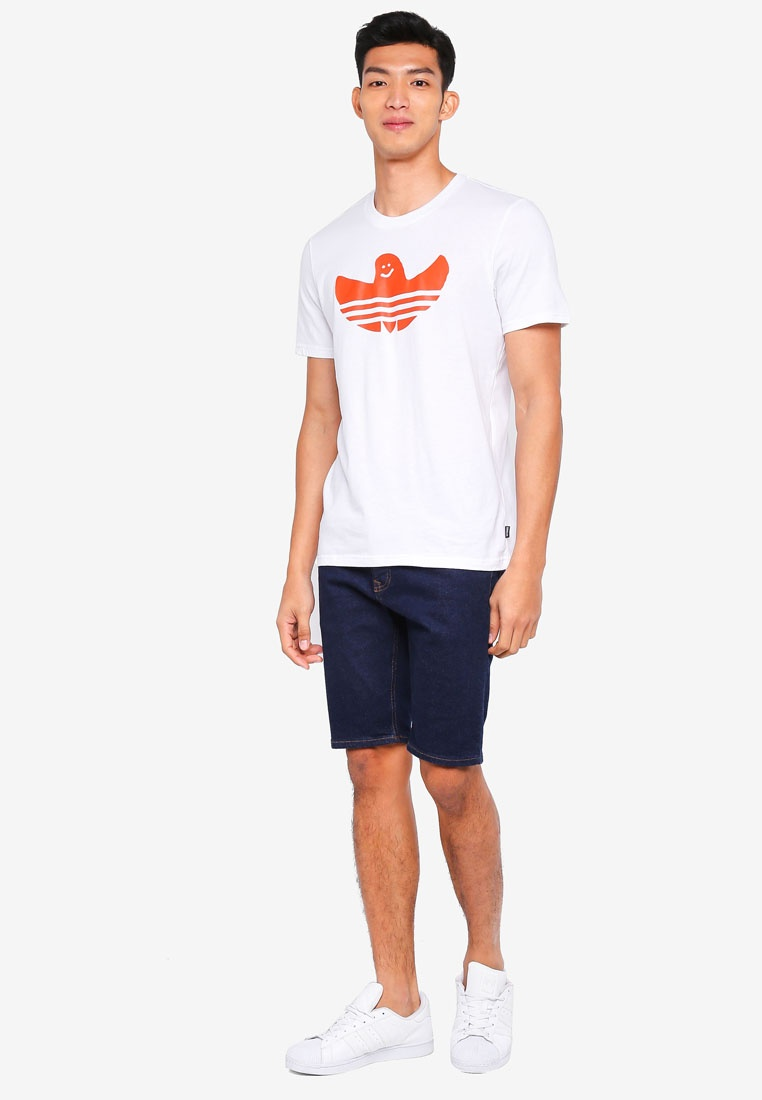 solid shmoo adidas adidas tee Orange Collegiate White originals awxqgFP