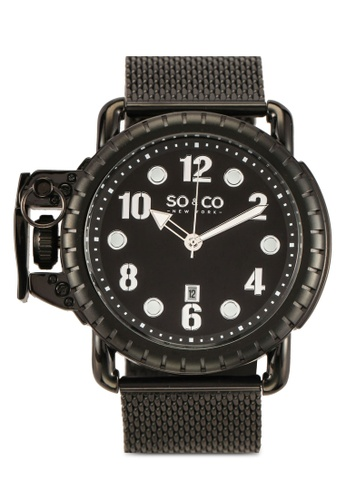 SO&CO black Yacht Timer Watch 5208 22739ACF0DFCFFGS_1